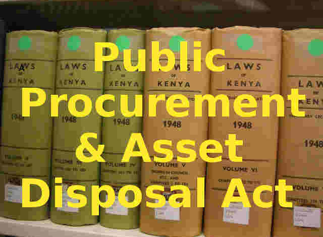Photo of Public Procurement and Asset Disposal Act, 2015