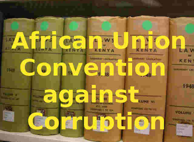 Photo of AU Convention on Preventing and Combating Corruption, 2003