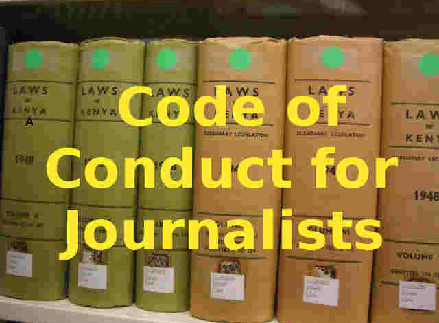 Photo of Code of Conduct for Journalism in Kenya