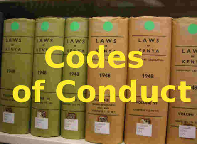 Photo of Codes of Conduct