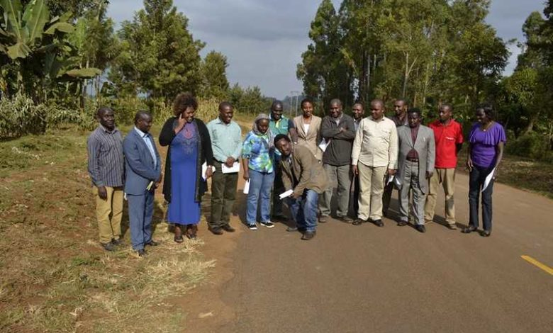 Embu MCAs inspect road in other county
