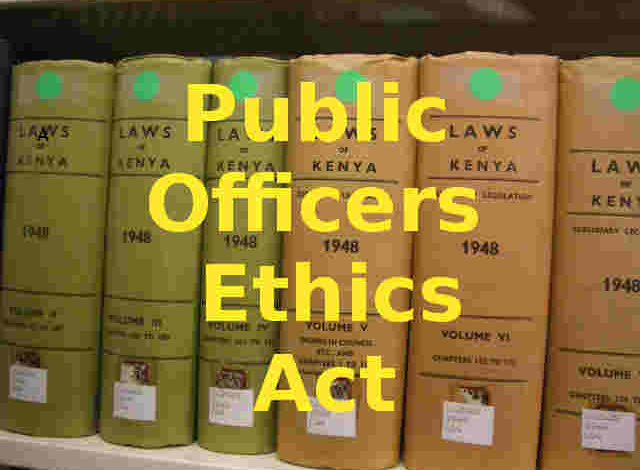 Photo of Public Officers Ethics Act, 2013