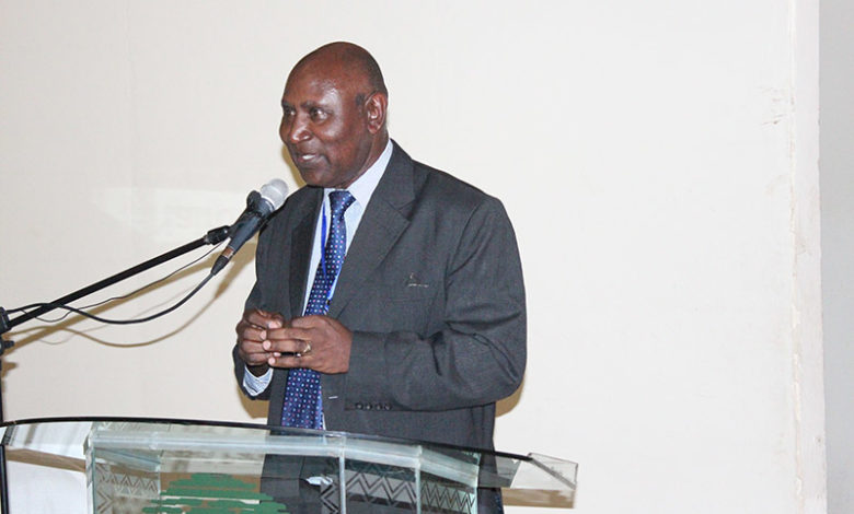 The Auditor General Edward Ouko delivering a speech at a IFMI function