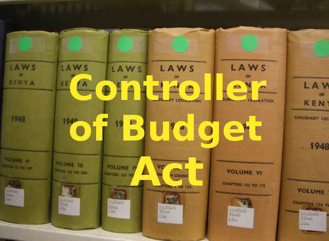 Photo of Controller of Budget Act