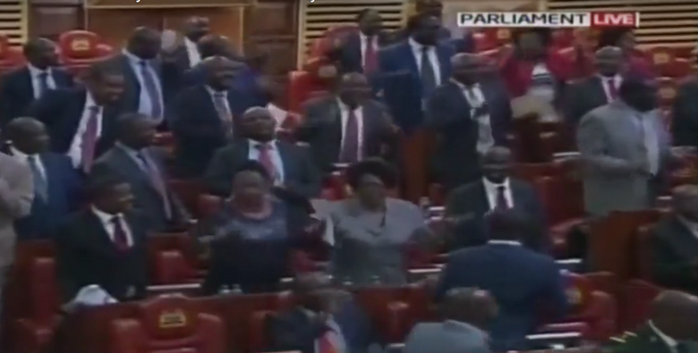 Screenshot of the live coverage of the Kenyan National Assembly on Sep 20, 2018